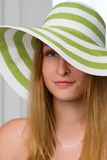 Portrait of pretty cheerful woman Royalty Free Stock Images