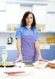 Portrait of pretty Chief cook Stock Photo