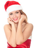 Portrait of pretty christmas woman Stock Photo