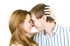 Portrait of pretty couple Stock Photography