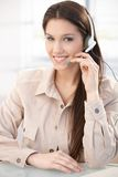 Portrait of pretty dispatcher smiling royalty free stock image