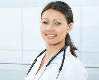 Portrait of pretty doctor Royalty Free Stock Photography