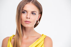 Portrait of a pretty fashion model looking away Royalty Free Stock Images