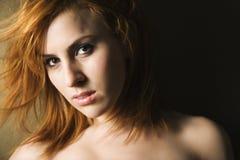 Portrait of pretty female Stock Images