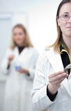 Portrait of a pretty female researcher Royalty Free Stock Images