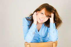 Portrait of the pretty girl Royalty Free Stock Photo