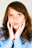 Portrait of the pretty girl Stock Photo