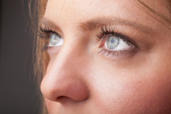 Portrait of a pretty girl  close up eye Royalty Free Stock Image