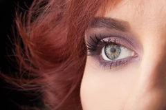 Portrait of a pretty girl  close up eye Stock Images
