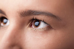 Portrait of a pretty girl  close up eye Stock Photos