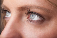 Portrait of a pretty girl  close up eye Royalty Free Stock Photo