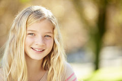 Portrait Of Pretty Girl In Countryside Royalty Free Stock Photography