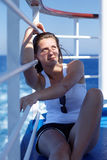 Portrait of pretty girl on a cruise Royalty Free Stock Photography