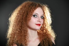 Portrait of a pretty girl curls Stock Photo