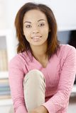 Portrait of pretty girl at home stock photography