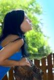 Portrait Pretty girl outdoor Stock Image