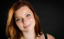 Portrait of a pretty girl with red hair Royalty Free Stock Images