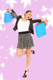 Pretty girl with shopping bags Royalty Free Stock Images