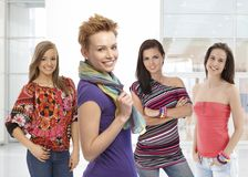 Portrait of pretty girls Stock Images
