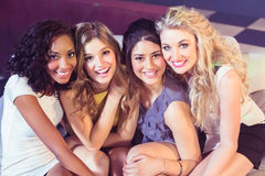 Portrait of pretty girls smiling Stock Photos