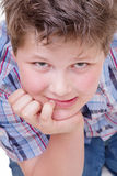 Portrait of pretty handsome kid Royalty Free Stock Images