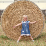 Portrait of pretty happy cheerful little girl Royalty Free Stock Photo