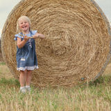 Portrait of pretty happy cheerful little girl Royalty Free Stock Photos