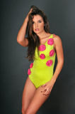 Portrait of pretty latina swimsuit fashion model Stock Photography