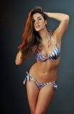 Portrait of pretty latina swimsuit fashion model Royalty Free Stock Photos