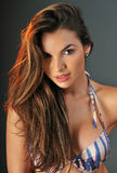 Portrait of pretty latina swimsuit fashion model Stock Photo