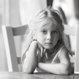 Portrait of a pretty liitle girl Royalty Free Stock Photo