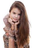 Portrait of a pretty liitle girl Stock Images