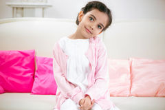 Portrait of pretty little gir Royalty Free Stock Photos