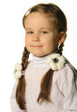 Portrait of the pretty little girl Royalty Free Stock Photography