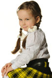 Portrait of the pretty little girl Royalty Free Stock Images