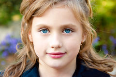 Portrait of a pretty little girl Royalty Free Stock Images