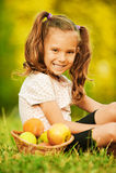 Portrait of pretty little girl Stock Image