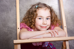 Portrait of a pretty little girl Stock Image