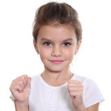 Portrait of pretty little girl Royalty Free Stock Photography