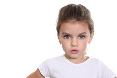 Portrait of pretty little girl Royalty Free Stock Photos