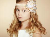 Portrait of pretty little girl Stock Photos