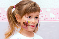 Portrait of a pretty little girl. Royalty Free Stock Image