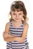 Pretty little girl looks forward Stock Images