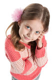Portrait of a pretty little girl stock images