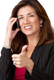 Portrait of pretty mature businesswoman Royalty Free Stock Photography