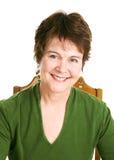 Portrait of Pretty Mature Woman Stock Image