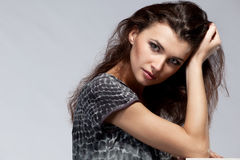 Portrait of pretty model with luxury make-up Stock Photos