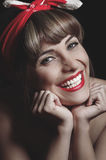 Portrait of pretty pinup vintage girl Stock Photography