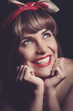 Portrait of pretty pinup vintage girl Stock Images