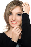 Portrait of a pretty playful young woman Royalty Free Stock Images